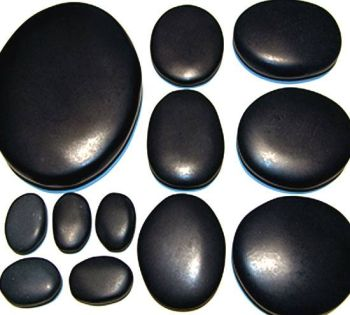 Hot Stones Massage-Set mit 12 Steinen